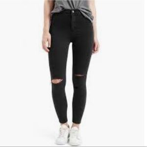 TOPSHOP 'Joni' High-Waisted Destroyed Jeans
